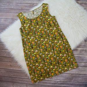 90's VTG Handmade Mushroom Print Dress Size Small